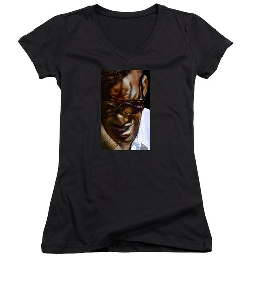 Ray Charles-beyond Sight 2 Women's V-Neck (Athletic Fit)