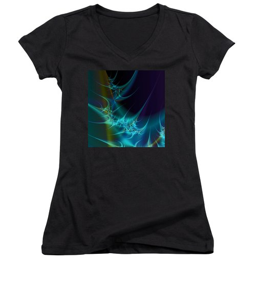 Receptors Women's V-Neck T-Shirt (Junior Cut) by Fran Riley