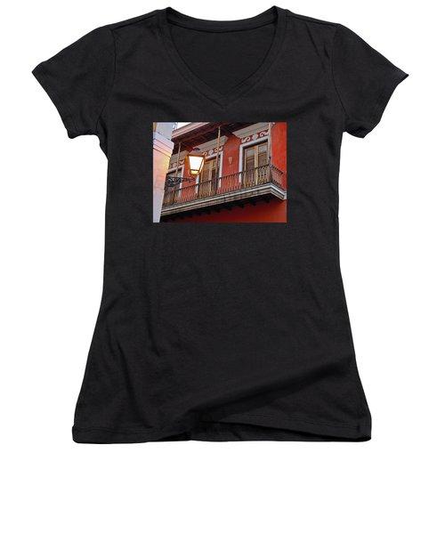 Red Balcony Women's V-Neck T-Shirt