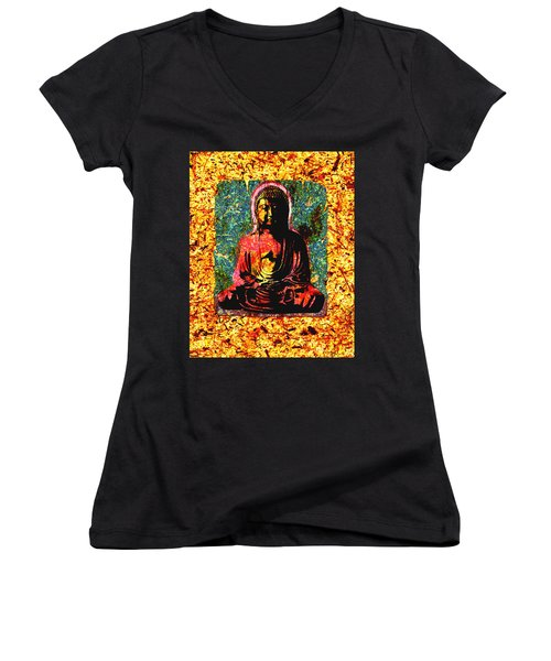 Red Buddha Women's V-Neck (Athletic Fit)