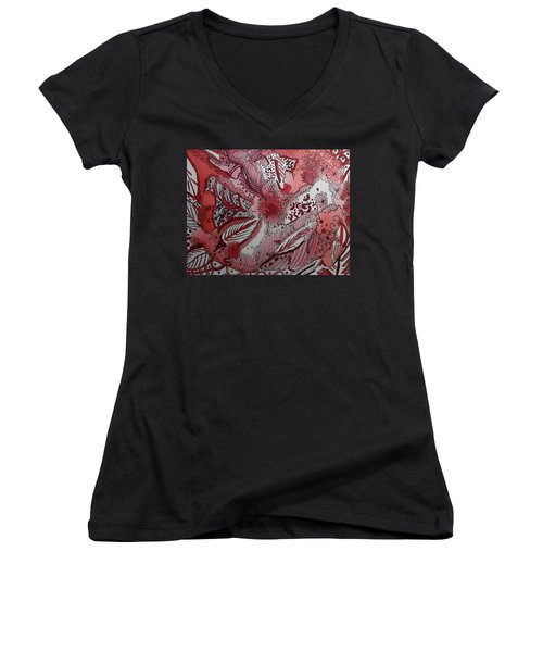 Red Chakra Women's V-Neck