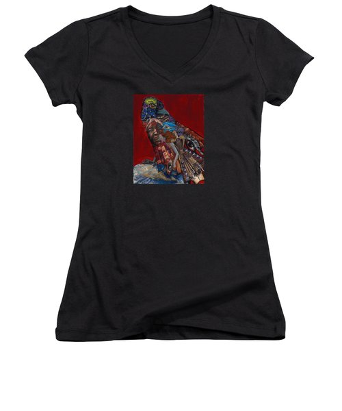 Red Crow Women's V-Neck T-Shirt