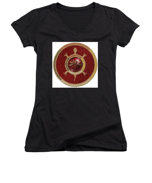 Red Dragonfly Women's V-Neck