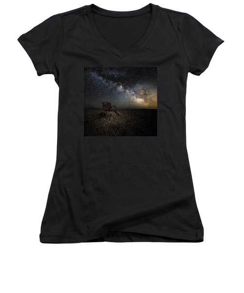 Redneck Planetarium Women's V-Neck T-Shirt