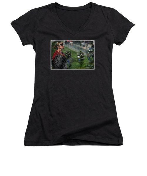 Reflect Women's V-Neck T-Shirt (Junior Cut) by Bob Hislop