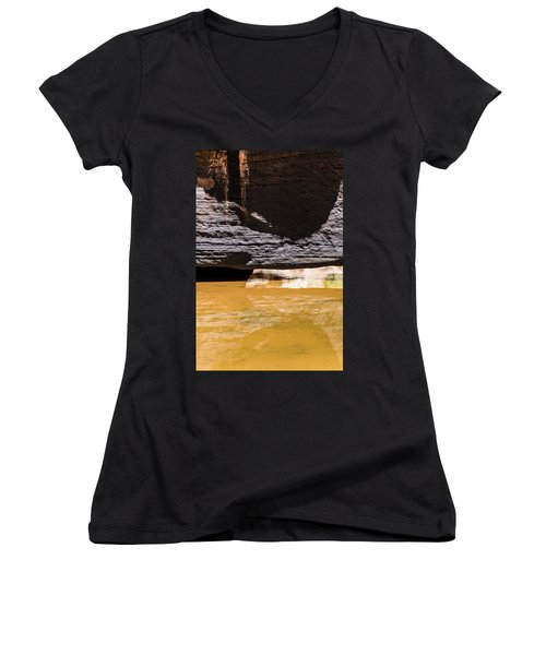 Reflected Formations Women's V-Neck (Athletic Fit)