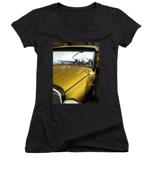 Reflection Of The Past Women's V-Neck T-Shirt (Junior Cut) by Bill Gallagher