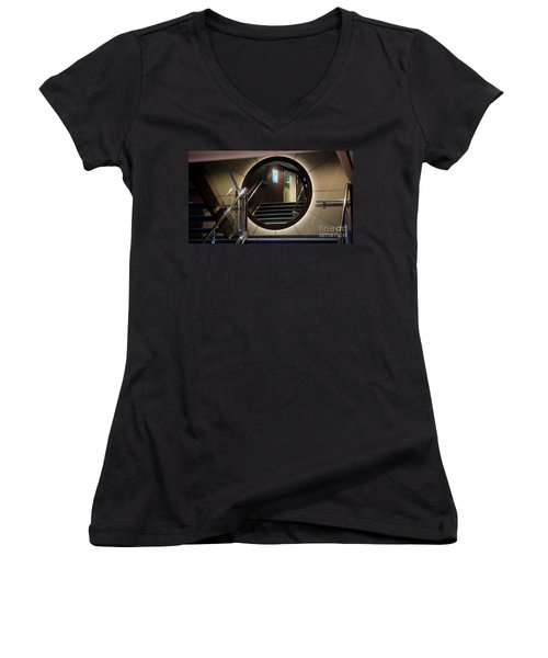 Reflection Stair Women's V-Neck T-Shirt