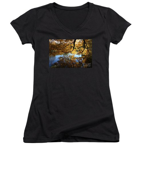 Reflections Women's V-Neck T-Shirt (Junior Cut) by John Telfer