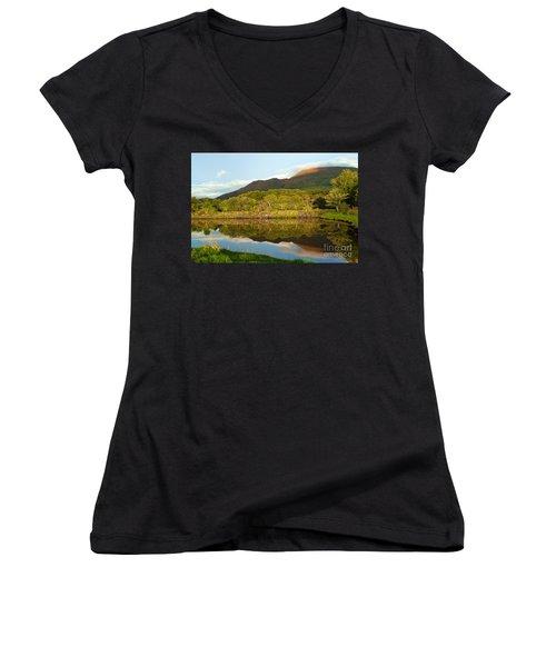 Reflections On Loch Etive Women's V-Neck T-Shirt
