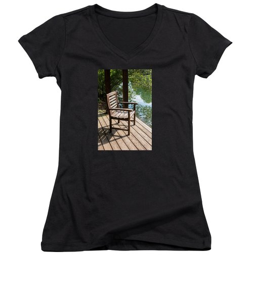 Alone By The Lake Women's V-Neck