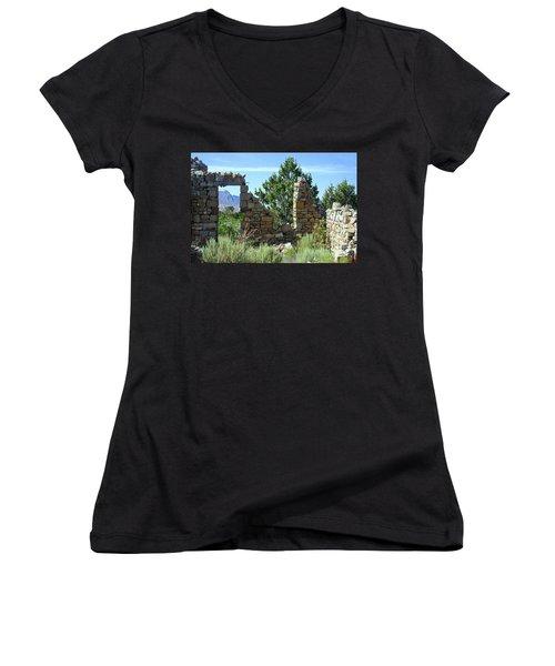 Remains Of A Dream Women's V-Neck T-Shirt (Junior Cut) by Bob Hislop
