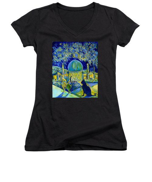 Reminiscences Of Asia. Bed Time Story Women's V-Neck T-Shirt