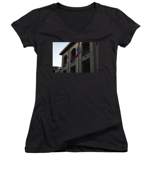 Women's V-Neck T-Shirt (Junior Cut) featuring the photograph Respect by Shawn Marlow