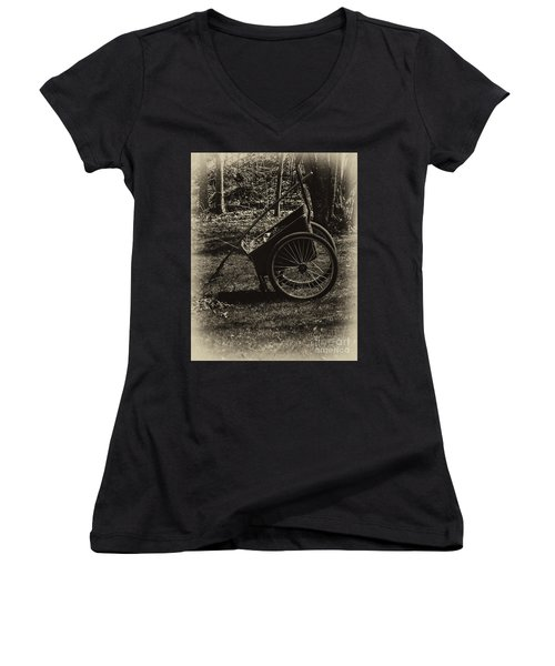 Women's V-Neck T-Shirt (Junior Cut) featuring the photograph Rest Awhile by Mark Myhaver