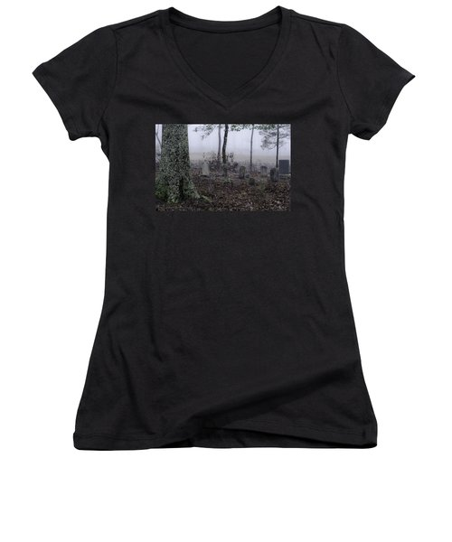 Women's V-Neck T-Shirt (Junior Cut) featuring the photograph Rest by Laura DAddona