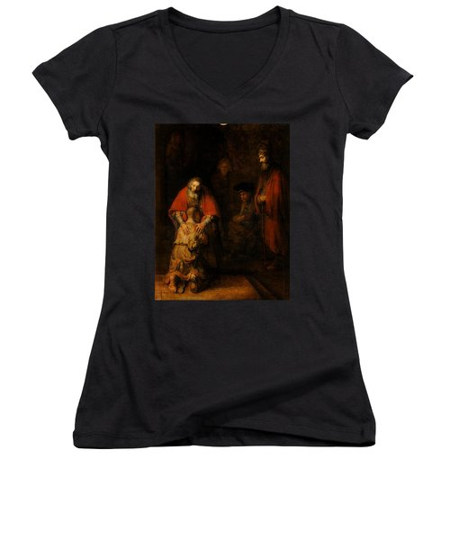 Return Of The Prodigal Son  Women's V-Neck (Athletic Fit)