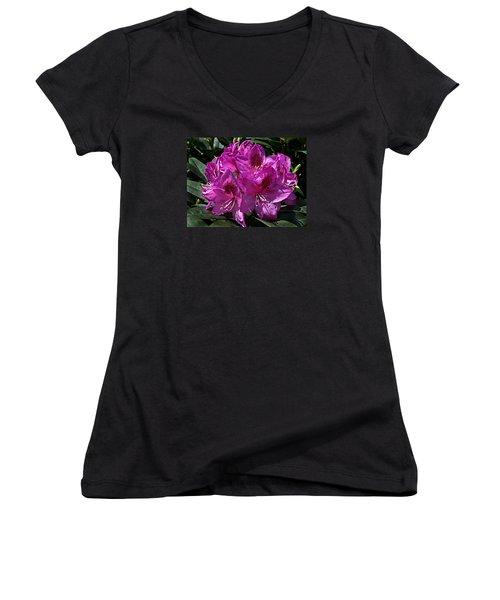 Rhododendron ' Anah Kruschke ' Women's V-Neck T-Shirt (Junior Cut)