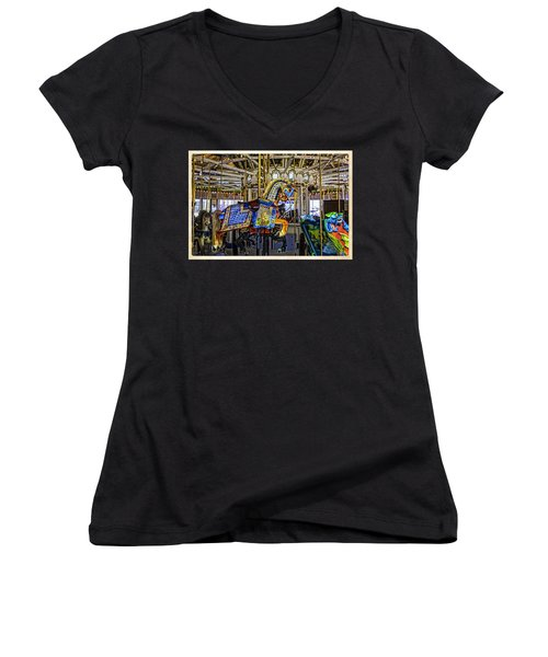 Ride A Painted Pony - Coney Island 2013 - Brooklyn - New York Women's V-Neck (Athletic Fit)