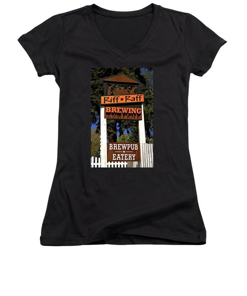 Riff Raff Brewing Women's V-Neck (Athletic Fit)
