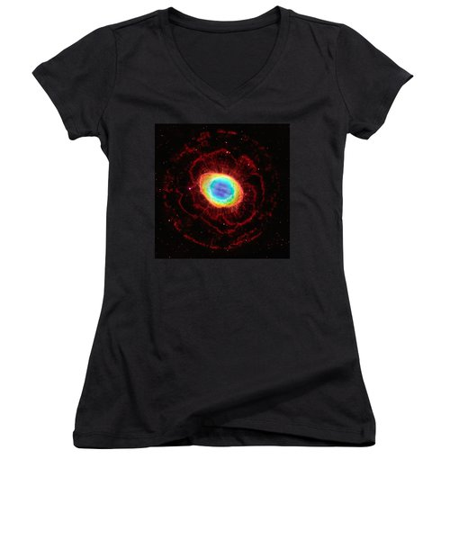 Ring Nebula's True Shape Women's V-Neck T-Shirt