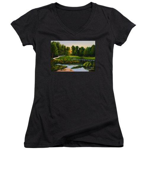 River Course #16 Women's V-Neck T-Shirt