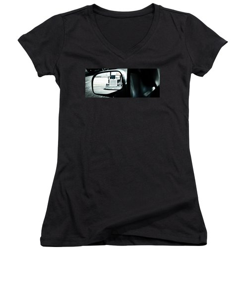 Aaron Berg Women's V-Neck T-Shirt (Junior Cut) featuring the photograph Road Rage by Aaron Berg