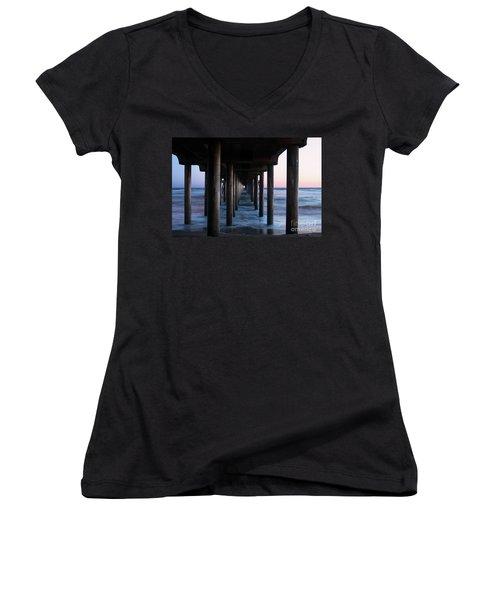 Road To Heaven Women's V-Neck T-Shirt (Junior Cut) by Mariola Bitner