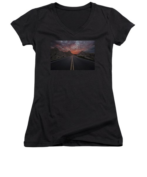 Road To Nowhere Badlands Women's V-Neck