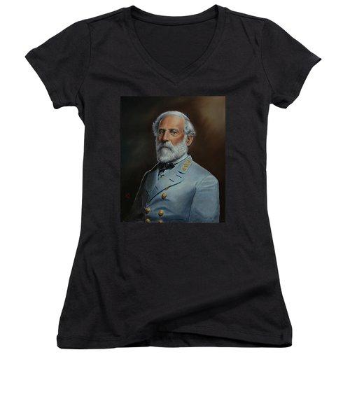 Robert E. Lee Women's V-Neck T-Shirt