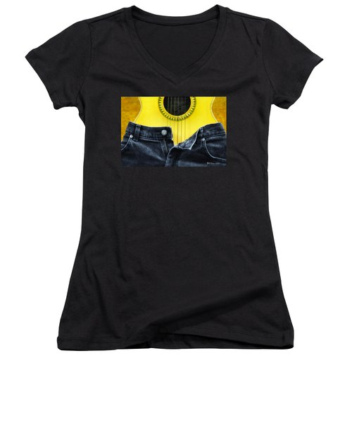 Rock And Roll Woman Women's V-Neck