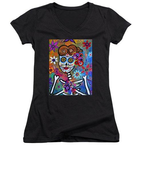 Rockabilly Frida Women's V-Neck