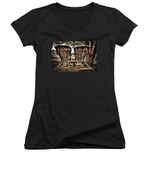 Rocking Chairs Women's V-Neck T-Shirt
