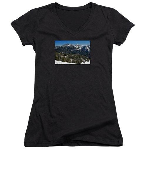 Rocky Mountain Top Women's V-Neck T-Shirt (Junior Cut)