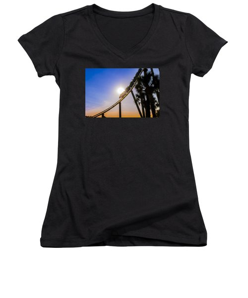 Roller Coaster Women's V-Neck T-Shirt
