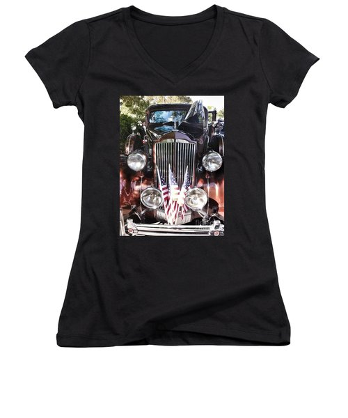Rolls Royce Car  Women's V-Neck T-Shirt