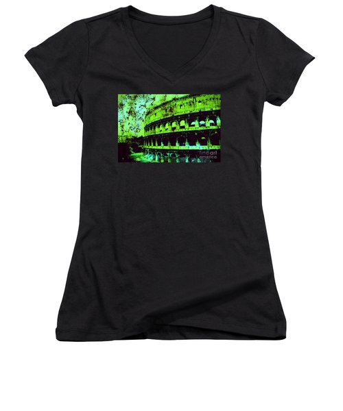 Roman Colosseum Women's V-Neck T-Shirt