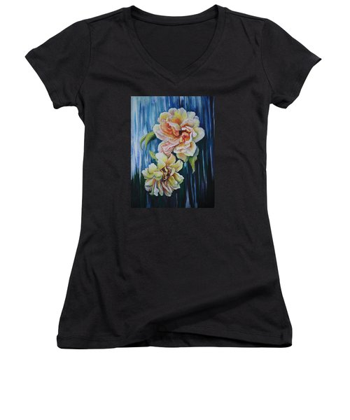 Rose Duo Women's V-Neck T-Shirt