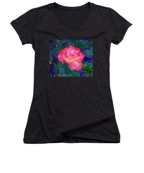 Rose In The Matter Of Your Hand V7 Women's V-Neck