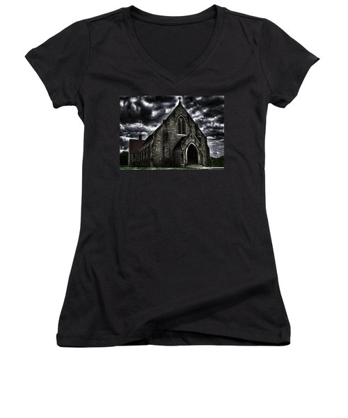 Roseville Ohio Church Women's V-Neck (Athletic Fit)