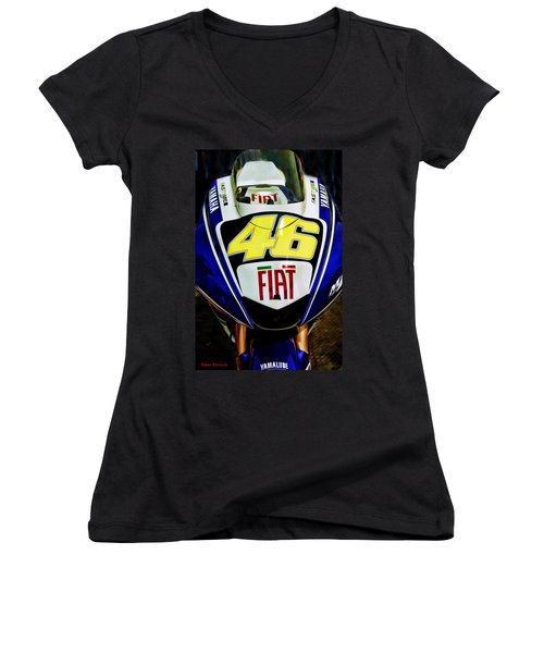 Rossi Yamaha Women's V-Neck T-Shirt
