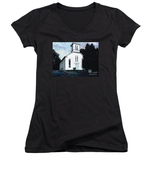 Rossville Church And Cemetery Women's V-Neck T-Shirt