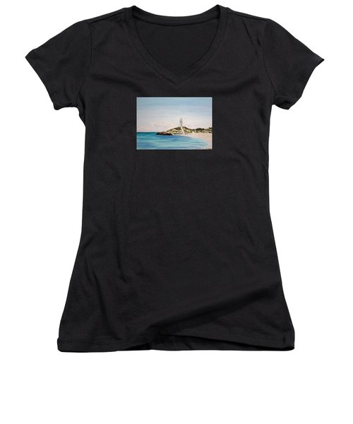 Rottnest Island Australia Women's V-Neck T-Shirt (Junior Cut) by Elvira Ingram