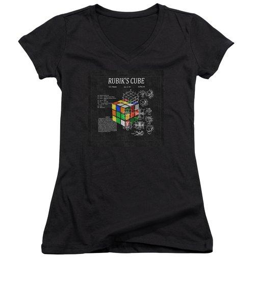 Rubik's Cube Patent 3 Women's V-Neck (Athletic Fit)