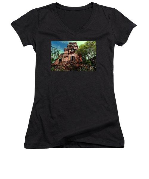 Ruin At Angkor Women's V-Neck