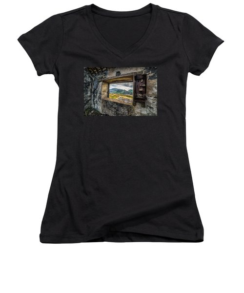 Ruin With A View  Women's V-Neck