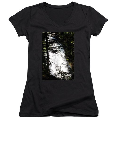 Rushing Through The Trees Women's V-Neck (Athletic Fit)