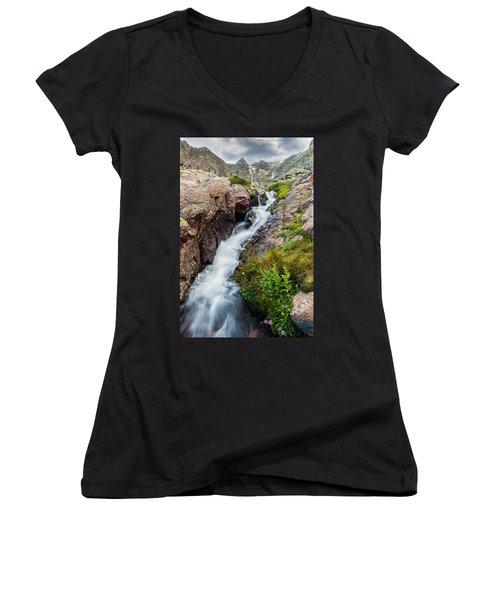 Rushing Thru Women's V-Neck T-Shirt