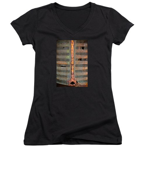 Rusted Grill - Abstract Women's V-Neck T-Shirt