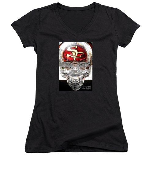 S. F. 49ers Women's V-Neck T-Shirt
